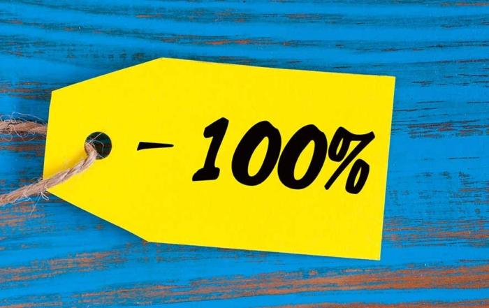 100 Percent Discount